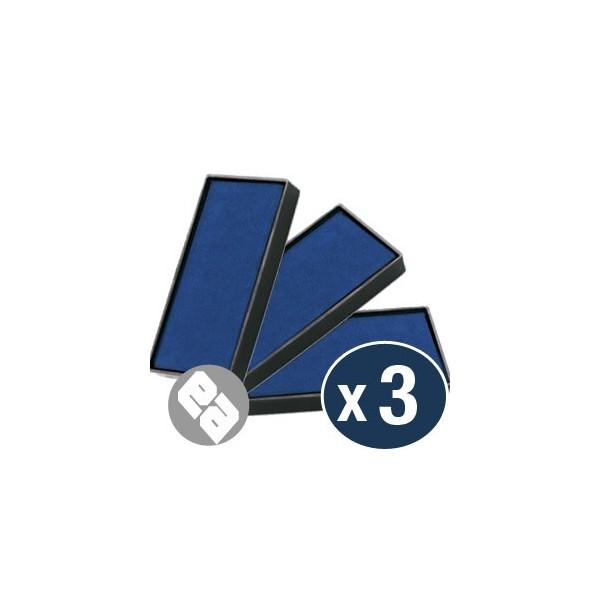 Recharge S-823-7 pour tampon automatique SHINY - ( bleu ) - le lot de 3