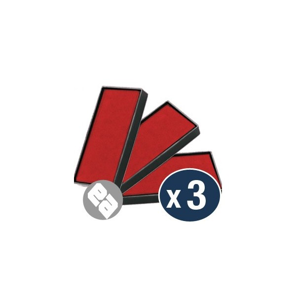 Recharge S-822-7 pour tampon automatique SHINY - ( rouge ) - le lot de 3